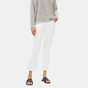 Eileen Fisher Slim Knee Crop Jeans White
